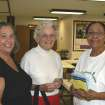 Pi Phis Diane Kenney and Susie Blinn visit with Back to Basics director Wandalene Black.  Community Photo By:  Mary Ann Osko  Submitted By:  Mary Ann, oklahoma city