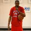Kevin Durant gives speech to camp participants. Kevin Durant held a basketball camp Wednesday, June 30, 2010, at Heritage Hall in Oklahoma City. Photo by Mitchell Alcala, The Oklahoman.