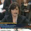 In this image made from Thursday, Feb. 23, 2012 video provided by C-SPAN, Sandra Fluke, a third-year Georgetown University law student, testifies to Congress in Washington. Limbaugh drew fire Friday, March 2, 2012 from many directions for his depiction of Fluke as a