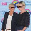 Ellen DeGeneres, left, and Portia de Rossi arrive at the Teen Choice Awards on Sunday, July 22, 2012, in Universal City, Calif. (Photo by Jordan Strauss/Invision/AP)
