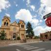 This July 14, 2010 image shows St. Francis Cathedral, one of many historic churches and missions in Santa Fe, N.M. Aside from being one of the city's most photographed landmarks, Pope Benedict XVI in 2005 declared the cathedral the Southwest's cradle of Catholicism. (AP Photo/Susan Montoya Bryan)
