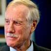 FILE - This Nov. 13, 2012 file photo shows then-Sen.-elect Angus King, I-Maine on Capitol Hill in Washington. King said Thursday that he sees no strong reason to oppose President Barack Obama's pick for secretary of defense. (AP Photo/J. Scott Applewhite, File)