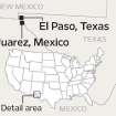 MAP / GRAPHIC / EL PASO, TEXAS / JUAREZ, MEXICO