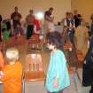 Children participate in the cake walk at the Family Fall Festival at First Christian Church in Guthrie. Cake walks were held every 15 minutes during the festival and all participants received a cupcake and a winner received a cake during each walk. Cakes were provided by the Disciples Women's Group.  Community Photo By:  Sharon Johnston  Submitted By:  Karen,