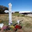 Family and friends recently placed a large white cross  as a memorial to Carina Saunders, 19,  in a field on the north side of NW 23 Street west of Rockwell Avenue in Bethany.  Saunders' dismembered body was found in a duffel bag in a field next to a national chain grocery store on Oct. 13. Police continue to search for her killer.  This photo taken Thursday, Nov. 3, 2011. Photo by Jim Beckel, The Oklahoman  ORG XMIT: KOD