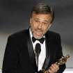 Christoph Waltz accepts the Oscar for best performance by an actor in a supporting role for