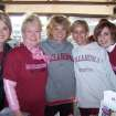 Sherri Coale (center), OU Women's Basketball Head Coach and OU Physicians Spokeswoman, served as local honorary chair of the 2006 Susan G. Komen Breast Cancer Foundation Race for the Cure, Saturday, October 14. She is pictured here at the event with OU Breast Institute staff (from left): Alicia Drew; Ann Archer, M.D.; Elizabeth Jett, M.D.; and Rachelle Burns.  Community Photo By:  April Sandefer  Submitted By:  April,