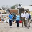 President Barack Obama tours tornado area at Plaza Towers Elementary with Principal Amy Simpson in Moore, Okla., on Sunday, May 25, 2013. Photo by Bryan Terry The Oklahoman