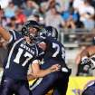 Nevada's Cody Fajardo (17) throws a pass against Wyoming during the first half of an NCAA college football game in Reno, Nev., on Saturday, Oct. 6, 2012. (AP Photo/Cathleen Allison)
