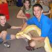 Recently at Best of Books, Joseph Lalli got a close-up view of Dustin Davis' albino boa constrictor. Dustin is from Kickingbird Pets and is always a popular guest.  Community Photo By:  Connie Mashburn  Submitted By:  Connie,