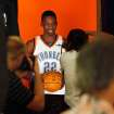 Jeff Green poses for a photo during media day for the Oklahoma City Thunder NBA basketball team at the Skirvin Hilton hotel in Oklahoma City, Monday, September 29, 2008. BY NATE BILLINGS, THE OKLAHOMAN