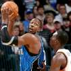 Orlando's Dwight Howard looks for room against Oklahoma City's Jeff Green during the NBA basketball game between the Orlando Magic and the Oklahoma City Thunder at the Ford Center in Oklahoma City, on Sunday, Nov. 8, 2009. By John Clanton, The Oklahoman