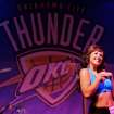 Kayla dances during auditions for the OKC Thunder dance team, at Toby Keith's I Love this Bar and Grill, in Oklahoma City, Thursday, Sept. 11, 2008 BY MATT STRASEN, THE OKLAHOMAN.