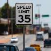 RAUL RIOS BECERRA / POLICE CAR ACCIDENT / WRECK / SPEEDING / DEATH: Speed limit sign two blocks west of the intersection of SW 29 and Indiana where Raul Becerra, 49, died when his car was struck by an Oklahoma City police car. Police officials today disclosed the officer was exceeding the posted speed limit on SW 29 when his patrol car collided with Becerra's car, killing him at the scene.  Photo by Jim Beckel, The Oklahoman ORG XMIT: KOD