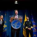 Food and Drug Administration (FDA) Commissioner Dr. Robert Califf, center, accompanied by, from left, Health and Human Services Secretary Sylvia Burwell, US Surgeon General Dr. Vivek Murthy, and FDA Center for Tobacco Products Director Mitch Zeller, speaks during a news conference at the Hubert H. Humphrey Building in Washington, Thursday, May 5, 2016, to announce new regulation extending the FDA's authority to all tobacco products including e-cigarettes. (AP Photo/Andrew Harnik)