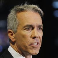 Photo -   ADVANCE FOR SUNDAY OCT. 28 - In this Oct. 17, 2012 photo, Republican U.S. Rep. Joe Walsh speaks after his debate with Democratic challenger Tammy Duckworth in Chicago. They are running for Illinois' 8th Congressional District seat in the Nov. 6 election. (AP Photo/Charles Rex Arbogast)