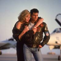 """Photo - Kelly McGillis and Tom Cruise star in """"Top Gun: An IMAX 3-D Experience."""" PARAMOUNT PICTURES PHOTO"""