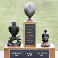 Photo - Millwood and Douglass high schools compete for the Soul Bowl Classic trophy every year.  Steve Gooch - THE OKLAHOMAN