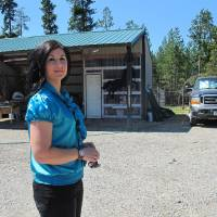 Photo -   In this photo taken Aug. 7, 2012, Sara Weaver stands outside her horse ranch near Kalispell, Mont. Weaver has finally forgiven the federal agents who 20 years ago shot her mother and younger brother to death during the siege at Idaho's Ruby Ridge. (AP Photo/Nicholas K. Geranios)
