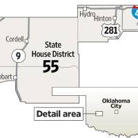 Photo - State House District 55 MAP - GRAPHIC (CORDELL, HOBART, HYDRO, HINTON)