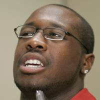 Photo - OU / COLLEGE FOOTBALL: University of Oklahoma defensive tackle Gerald McCoy is shown during Big 12 Media Day in Irving, Texas, Tuesday, July 28, 2009. (AP Photo/Donna McWilliam)  ORG XMIT: TXDM111