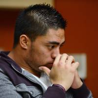 Photo - In a photo provided by ESPN, Notre Dame linebacker Manti Te'o pauses during an interview with ESPN on Friday, Jan. 18, 2013, in Bradenton, Fla.  (AP Photo/ESPN Images, Ryan Jones) MANDATORY CREDIT