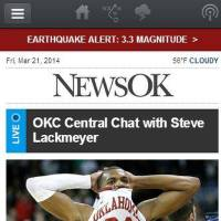 Photo -  Earthquake alert on NewsOK Mobile