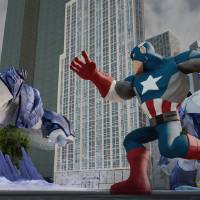 Photo - This photo provided by Disney shows Marvel's The Avengers play set from