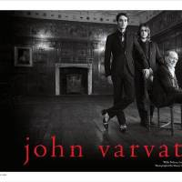 Photo -  Willie Nelson with his two sons in the new John Varvatos menswear ad campaign.