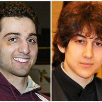 Photo - FILE - This combination of undated file photos shows the two brothers the FBI  initially said were suspects in the Boston Marathon bombing on Monday, April 15, 2013, Tamerlan Tsarnaev, 26, left, and Dzhokhar Tsarnaev, 19. Suspect Tamerlan Tsarnaev died after a gunfight with police several days later, while Dzhokhar Tsarnaev, was captured and lies in a hospital prison. Three more suspects have been taken into custody in the marathon bombings, police said Wednesday, May 1, 2013.  (AP Photo/The Lowell Sun & Robin Young, File)