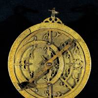 Photo - This image provided by the Dallas Museum of Art shows Planispheric Astrolabe from Spain made from cast and engraved brass. It is among 150 rare Islamic works of art and scientific objects that explore the use and meaning of light on exhibit at the Dallas Museum of Art.