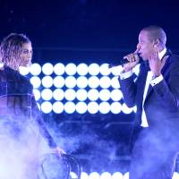 Photo - FILE - This Jan. 26, 2014 file photo shows Beyonce, left, and Jay Z performing