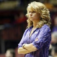 Photo -  OU women's basketball coach Sherri Coale watches the Sooners' game against Texas A&M during the 2012 Big 12 Women's Championship at Municipal Auditorium in Kansas City, Mo. Photo by Sarah Phipps, The Oklahoman