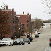Photo - A view of the 200 and 300 block of NE 2nd St. looking east in the Deep Deuce district in Oklahoma City, Monday, Feb. 10, 2014. Photo by Nate Billings, The Oklahoman