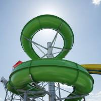 Photo - A giant water slide is among entertainment features offered at Andy Alligator's Water Park.