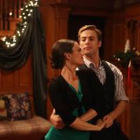 "Photo -  Danica McKellar and Dustin Mulligan star in ""Love at the Christmas Table."" - Lifetime Photo"