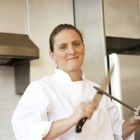 Photo -   In this undated image released by Ecco, British chef April Bloomfield is shown. Bloomfield, author of