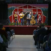 Photo - The band Fireside performs bluegrass music  at the Oklahoma Country Western Museum and Hall of Fame in Del City. Photo by Bryan Terry, The Oklahoman  BRYAN TERRY - THE OKLAHOMAN