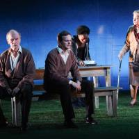 Photo - Shown in a publicity photo released by Lincoln Center Theater are, from left, Robert Hogan, Dashiell Eaves, Marsha Stephanie Blake and Jenny O'Hara, in a scene from the LCT3 production of