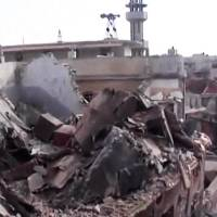 Photo -   This image taken from video obtained from the Shaam News Network, which has been authenticated based on its contents and other AP reporting on Wednesday, Oct. 10, 2012, shows a destroyed building from shelling in Homs, Syria, on Monday, Oct. 8, 2012. (AP Photo/Shaam News Network via AP video)