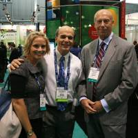 Photo - Breca Tracy and Paul DeAngelis with Oklahoma City-based Caisson Biotech with Bryan Fuller from Oklahoma City-based DermaMedics Monday at BIO International convention in Boston.   unknown