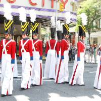 Photo - CORRECTS TITLE OF TO PARADE OF WOODEN SOLDIERS - This image released by Starpix shows The Rockettes dressed as toy soldiers as they perform