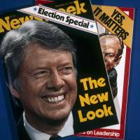 Photo -   FILE - In this Nov. 1, 1976, file photo, covers of Newsweek magazine are photographed in New York. Newsweek announced Thursday, Oct. 18, 2012 that it will end its print publication after 80 years and shift to an all-digital format in early 2013. Its last U.S. print edition will be its Dec. 31 issue. The paper version of Newsweek is the latest casualty of a changing world where readers get more of their information from websites, tablets and smartphones. It's also an environment in which advertisers are looking for less expensive alternatives online. (AP Photo/Suzanne Vlamis)