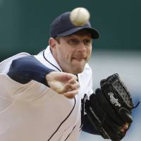 Photo - FILE  - In this April 6, 2013, file photo, Detroit Tigers pitcher Max Scherzer throws during a baseball game against the New York Yankees in Detroit. Scherzer has agreed to a one-year contract with the Tigers for $15,525,000, setting himself up for an even bigger payday when he becomes eligible for free agency after the season. (AP Photo/Carlos Osorio, File)