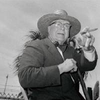 "Photo - FILE - This 1963 file photo shows Branch Rickey shown dressed for southern climates when he joined the Cardinals in Florida.  The home area of the late baseball executive Rickey expects increased interest in his southern Ohio roots from his depiction in the movie ""42,"" in which Harrison Ford plays the man who signed Jackie Robinson to challenge baseball's color line. (AP Photo/File)"