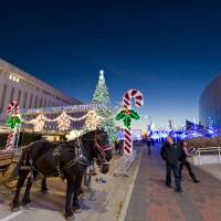 Photo - Downtown Tulsa is lit up and ready for visitors to the fifth annual Arvest Winterfest. PHOTO PROVIDED.