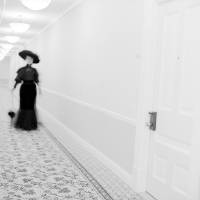 Photo -  Staff and guests at the Hotel del Coronado in San Diego have reported seeing a beautiful brunette in black 1800s garb gliding down the corridors. Photo courtesy of the Hotel del Coronado.