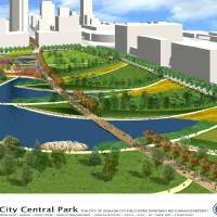 Photo - An artist's rendering shows an example of what the MAPS 3 urban park could look like. Image provided