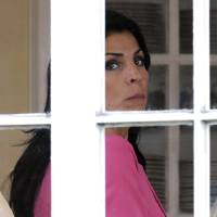 Photo -   Jill Kelley looks out the window of her home Tuesday, Nov 13, 2012 in Tampa, Fla. Kelley is identified as the woman who allegedly received harassing emails from Paula Broadwell, paramour to Gen. David Petraeus. She serves as an unpaid social liaison to MacDill Air Force Base in Tampa, where the military's Central Command and Special Operations Command are located. (AP Photo/Chris O'Meara)