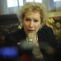 Photo - Russia Ambassador to Malaysia Lyudmila Vorobyeva speaks during a press conference on a Malaysia Airlines Flight 17 tragedy at her embassy in Kuala Lumpur, Malaysia, Tuesday, July 22, 2014. Vorobyeva said that experts had confirmed that the black boxes of the Malaysia Airlines passenger plane that crashed in eastern Ukraine
